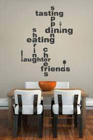 Dining Lingo Wall Decal Lettering Walltat