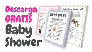 20 tarjetas de juegos para baby shower