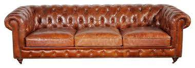 brown leather chester bay tufted sofa