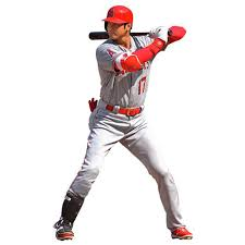 Los Angeles Angels Shohei Ohtani Fathead At Bat Life Size Removable Wall Decal