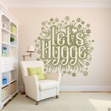 Let S Hygge Wall Decal Quote