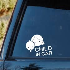 15 13cm Child In Car Car Styling Safety Sign Decal Mother And Baby Decorative Car Sticker Rear Window Car Sticker Car Stickers Aliexpress
