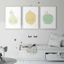 Fruit Pear Lemon Apple Kitchen Baby Room Poster Children S Room Picture Wall Art Unisex Nursery Canvas Print Kids Photo Decor Painting Calligraphy Aliexpress