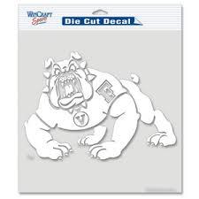 Fresno State University Bulldogs 8x8 White Die Cut Decal At Sticker Shoppe