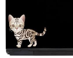 Bengal Cat Laptop Decal Macbook Decal Car Decal Cat Lover Etsy