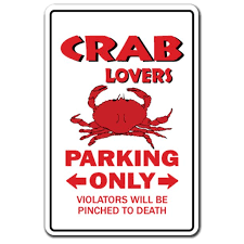 Crab Lovers Parking 3 Pack Of Vinyl Decal Stickers For Laptop Car Walmart Com Walmart Com