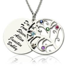family tree pendant necklace with