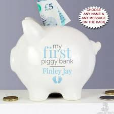 piggy bank baby boys gift