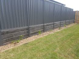 Pioneer Gumtree Concrete Sleeper Steel Post Retaining Wall For More Information Landscaping Retaining Walls Backyard Fences Concrete Sleeper Retaining Walls