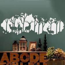 Deer In The Forest Wall Decals Ellaseal