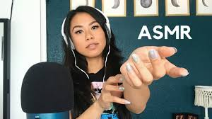asmr skin scratching with long nails