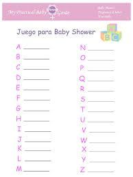 baby shower games in spanish my