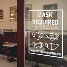 Face Mask Required Decal Storefront And Office Window Decal Etsy