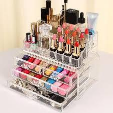 acrylic cosmetic makeup box organizer