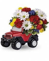jeep wrangler blazing trails bouquet