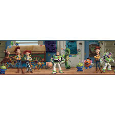 Dk5804bd Walt Disney Kids Toy Story Andy S Room Border Multiple Indoorwallpaper Com