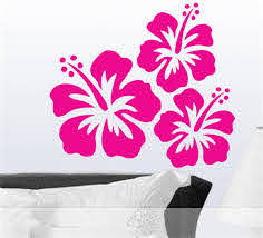 Amazon Com Gtrsa Hibiscus Wall Decals Hawaiian Tropical Flowers Floral Decal Floral Decor Hibiscus Decal Inspirational Wall Decal Church Wall Decal Daycare Wall Decal Bible Hymn Home Kitchen