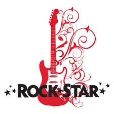 Rock Star Embellished Guitar Wall Quotes Decal Wallquotes Com