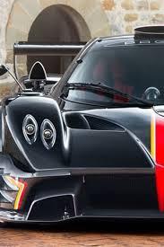 pagani zonda black supercar front view