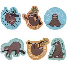 36 Count Sloth Meme Stickers Waterproof Removable Vinyl Decal For Laptops Bottle Folder Target