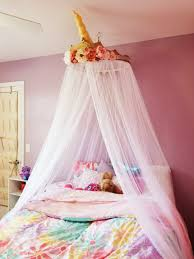 Bed Canopy From Bed Bath And Beyond Unicorn Crown Crafted As Addition For Little Girl S Room Room Ideas Bedroom Unicorn Bedroom Decor Unicorn Room Decor