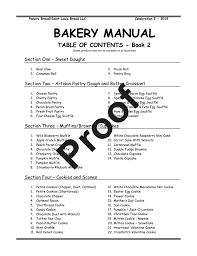 bakery manual panera bread