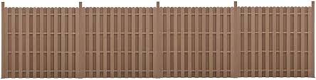 Neu Holz Garden Fence Panel With 11 Slats Wpc Wood Plastic Composite Brown 185x747cm Amazon Co Uk Kitchen Home