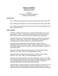 Résumé/CV - University of Detroit Mercy