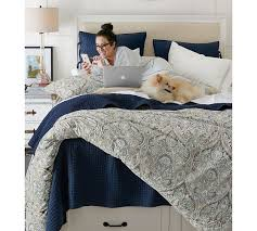 blue mackenna paisley percale patterned