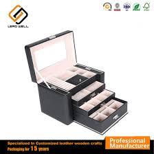 faux leather lockable makeup storage