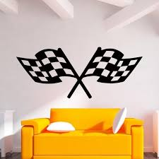 Hot Sale Cool Graphics Checkered Racing Flags Vinyl Decal Wall Sticker Art Culture Mural Diy Reusable Wall Decals Reusable Wall Stickers From Langru1002 9 05 Dhgate Com