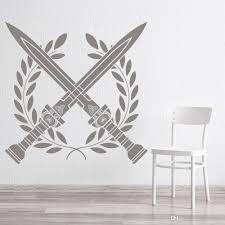 Wreath Sword Roman Wall Decal Living Room Vinyl Wall Sticker Nursery Boys Room Retro Home Decoration Bedroom Home Decor Batman Wall Stickers Beach Wall Stickers From Joystickers 12 66 Dhgate Com