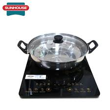 Bếp từ cảm ứng Sunhouse SHD6800 2000W- Bếp từ đơn ăn lẩu + Tặng kèm nồi
