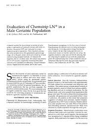 Evaluation of Chemstrip LN® in a Male Geriatric Population