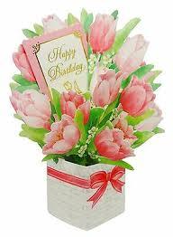 happy birthday flower bouquet tulip