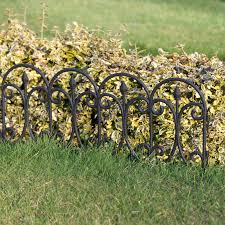 plastic fencing lawn grass border path