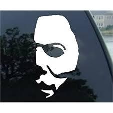 Jason Horror Movie Face White Vinyl Car Laptop Window Wall Decal