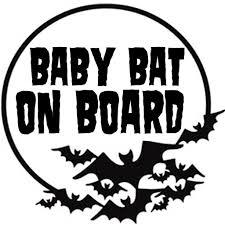 Baby Bat On Board Vinyl Decal Sticker Nu Goth Alternative Apparel Build Your Empire Clothing Co