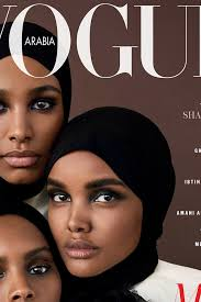 Vogue Arabia Makes History, Puts Three Black Hijabi Models on the Cover    Teen Vogue