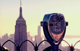 Wallpaper Usa New York Manhattan Nyc New York City View Skyscraper Fence Empire State Building Buildings Skyscrapers America United States Of America Binocular Images For Desktop Section Gorod Download