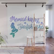 Mermaid Kisses Starfish Wishes Wall Mural By Jennsview Society6