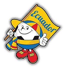 Decals Stickers Ecuador Flag Soccer Ball Car Bumper Sticker Decal 5 X 5 Collectibles Transportation