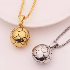 whole football pendant necklace