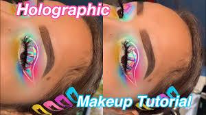holographic festival rave makeup