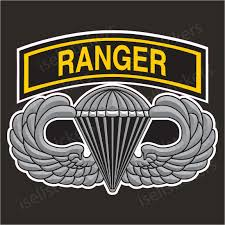 Army Airborne Ranger Wings Vinyl Bumper Sticker Window Decal