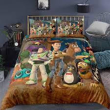Hot Price E382f Disney Toy Story Sherif Woody Buzz Lightyear Bedding Set Quilt Duvet Covers Pillowcase Kids Bedroom Decora Boys Bed Single Queen Cicig Co