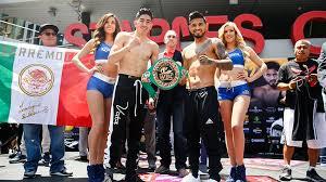 Leo Santa Cruz vs Abner Mares weigh in - Boxing News