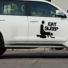 Earlfamily 2x After Eating And Sleeping Make A Happy Sex Life Full Classic Funny Car Sticker Rv Side Window Vinyl Decal 9 Colors Car Stickers Aliexpress