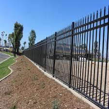 Freedom Pre Assembled New Haven 4 5 Ft H X 6 Ft W Black Aluminum Flat Top Decorative Fence Panel Vozeli Com