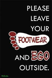 please leave your ego paper print quotes motivation posters in